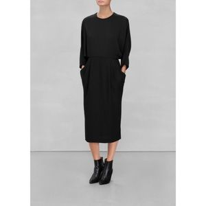 & Other Stories Black Backless Dress